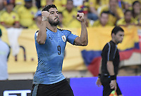 BARRANQUILLA - COLOMBIA - 11-10-2016:  Colombia y Uruguay durante partido de la fecha 10 para la clasificación a la Copa Mundial de la FIFA Rusia 2018 jugado en el estadio Metropolitano Roberto Melendez en Barranquilla./ Colombia and Uruguay during match of the date 10 for the qualifier to FIFA World Cup Russia 2018 played at Metropolitan stadium Roberto Melendez in Barranquilla. Photo: VizzorImage/ Gabriel Aponte / Staff