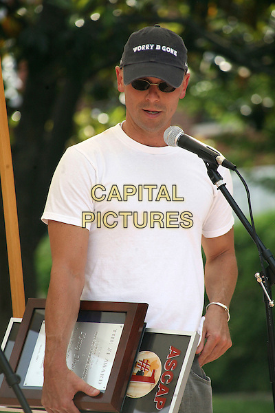 """KENNY CHESNEY.Kenny Chesney was honored at ASCAP with a Number One Party for the first song he has written """"Beer In Mexico"""",.Nashville, Tennessee, USA, 9 May, 2007..half length white t-shirt cap hat sunglasses.CAP/ADM/RR.©Randi Radcliff/AdMedia/Capital Pictures."""
