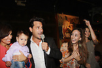 Ricky Paull Goldin & son Kai & wife Gretta Monahan and Christina Bennett Lind and Alicia Minshew at All My Children's Good Night Pine Valley was held on September 17, 2011 at Prohibition, New York City, New York.  (Photo by Sue Coflin/Max Photos)