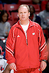 MADISON, WI - OCTOBER 24: Assistant coach Greg Gard of the Wisconsin Badgers watches during the red/white scrimmage at the Kohl Center on October 24, 2006 in Madison, Wisconsin. The White team defeated the Red team 72-69. (Photo by David Stluka)