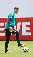 Torwart Manuel Neuer (Deutschland Germany) - 29.05.2018: Training der Deutschen Nationalmannschaft gegen die U20 zur WM-Vorbereitung in der Sportzone Rungg in Eppan/Südtirol