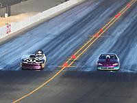 Jul 28, 2017; Sonoma, CA, USA; NHRA super gas driver Gary Hardee (left) alongside Rick Beckstrom during qualifying for the Sonoma Nationals at Sonoma Raceway. Mandatory Credit: Mark J. Rebilas-USA TODAY Sports