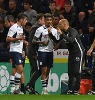 Preston North End's Manager Alex Neil instructs his players<br /> <br /> Photographer Dave Howarth/CameraSport<br /> <br /> The Carabao Cup Second Round - Preston North End v Hull City - Tuesday 27th August 2019  - Deepdale Stadium - Preston<br />  <br /> World Copyright © 2019 CameraSport. All rights reserved. 43 Linden Ave. Countesthorpe. Leicester. England. LE8 5PG - Tel: +44 (0) 116 277 4147 - admin@camerasport.com - www.camerasport.com