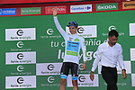 Miguel Angel Lopez Moreno (COL) Astana Pro Team retains the young riders White Jersey at the end of Stage 4 of La Vuelta 2019 running 175.5km from Cullera to El Puig, Spain. 27th August 2019.<br /> Picture: Eoin Clarke | Cyclefile<br /> <br /> All photos usage must carry mandatory copyright credit (© Cyclefile | Eoin Clarke)