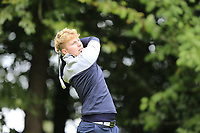 Alan Fahy (Leinster) during final day foursomes at the Interprovincial Championship 2018, Athenry golf club, Galway, Ireland. 31/08/2018.<br /> Picture Fran Caffrey / Golffile.ie<br /> <br /> All photo usage must carry mandatory copyright credit (© Golffile | Fran Caffrey)