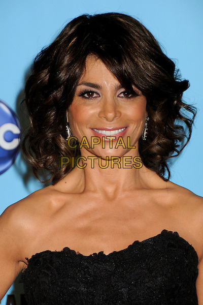 PAULA ABDUL .At the 2009 American Music Awards - Press Room held at the Nokia Theatre L.A. Live, Los Angeles, California, USA, .22nd November 2009..AMA AMAs  portrait headshot smiling strapless black .CAP/ADM/BP.©Byron Purvis/AdMedia/Capital Pictures.