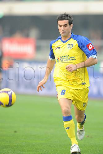 Marco Malago (Chievo), NOVEMBER 9, 2008 - Football : Italian Serie A match between Chievo Verona and Juventus at the Marc Antonio Bentegodi stadium in Verona, Italy. Photo by Enrico Calderoni/Actionplus. UK Licenses Only.