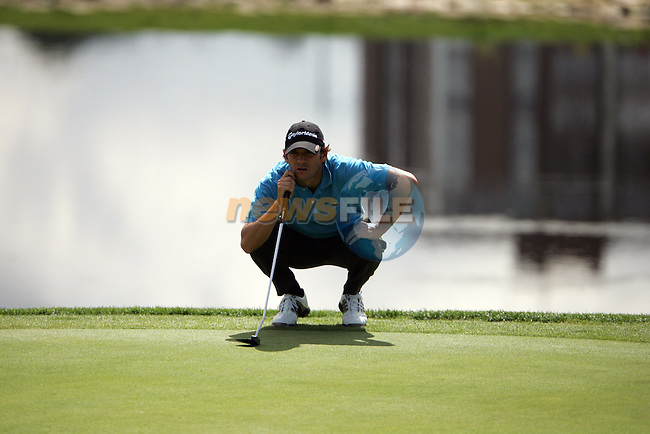 Carlos Rodiles on the 17th hole in the 3rd Round of the Open de Espana in Madrid...Photo NEWSFILE/Manus O'Reilly.(Photo credit should read Manus O'Reilly/NEWSFILE)....This Picture has been sent you under the condtions enclosed by:.Newsfile Ltd..The Studio,.Millmount Abbey,.Drogheda,.Co Meath..Ireland..Tel: +353(0)41-9871240.Fax: +353(0)41-9871260.GSM: +353(0)86-2500958.email: pictures@newsfile.ie.www.newsfile.ie.FTP: 193.120.102.198..