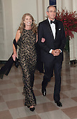 Brian Roberts, Chairman and CEO, Comcast NBC/ Universal Corporation and Aileen Roberts arrive at the State Dinner for China's President President Xi and Madame Peng Liyuan at the White House in Washington, DC for an official State Visit Friday, September 25, 2015. Credit: Chris Kleponis / CNP