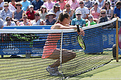 June 17th 2017, Nottingham, England;WTA Aegon Nottingham Open Tennis Tournament day 6;  Magdalena Rybarikova of The Slovak Republic discussing a dubious call with the umpire in the semi final against Magdalena Rybarikova of The Slovak Republic