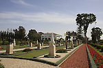 Israel, the Bahai shrine and garden in Bahji near Acco