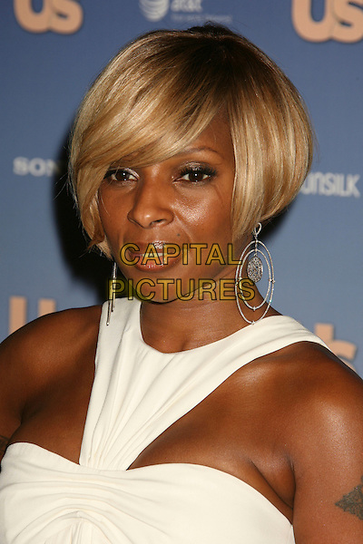 MARY J. BLIGE.US Weekly's Hot Hollywood 2007 held at Opera, Hollywood, California, USA..September 26th, 2007.headshot portrait silver hoop earrings sweeping fringe.CAP/ADM/RE.©Russ Elliot/AdMedia/Capital Pictures.