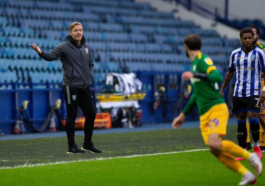 Sheffield Wednesday manager Garry Monk shouts instructions to his team from the technical area<br /> <br /> Photographer Alex Dodd/CameraSport<br /> <br /> The EFL Sky Bet Championship - Sheffield Wednesday v Preston North End - Wednesday 8th July 2020 - Hillsborough - Sheffield<br /> <br /> World Copyright © 2020 CameraSport. All rights reserved. 43 Linden Ave. Countesthorpe. Leicester. England. LE8 5PG - Tel: +44 (0) 116 277 4147 - admin@camerasport.com - www.camerasport.com