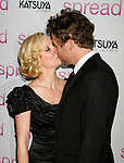 "HOLLYWOOD, CA. - August 03: Anne Heche and James Tupper arrive at the Los Angeles premiere of ""Spread"" at the ArcLight Hollywood on August 3, 2009 in Hollywood, California."