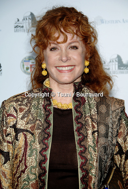 Stephanie Powers arriving at GRIFFITH OBSERVATORY Re-Opening in Los Angeles.<br /> <br /> headshot<br /> smile<br /> eye contact