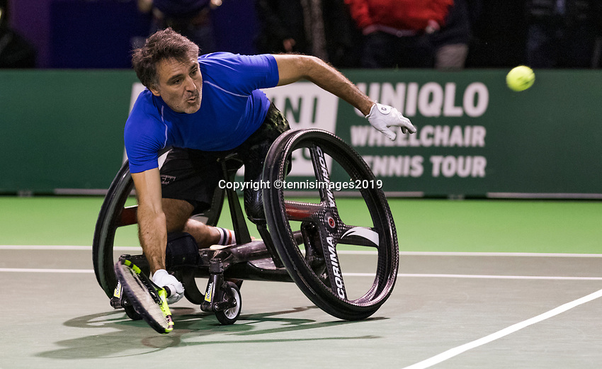 Rotterdam, The Netherlands, 14 Februari 2019, ABNAMRO World Tennis Tournament, Ahoy, Wheelchair, Stephane Houdet (FRA),<br /> Photo: www.tennisimages.com/Henk Koster