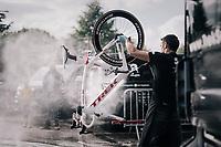 post-race bike cleaning at the Trek-Segafredo team hotel<br /> <br /> 104th Tour de France 2017<br /> Stage 2 - Düsseldorf › Liège (203.5km)