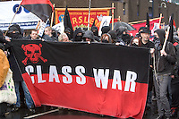 Class War Block @ Right To Work Demo Birmingham Oct 2010