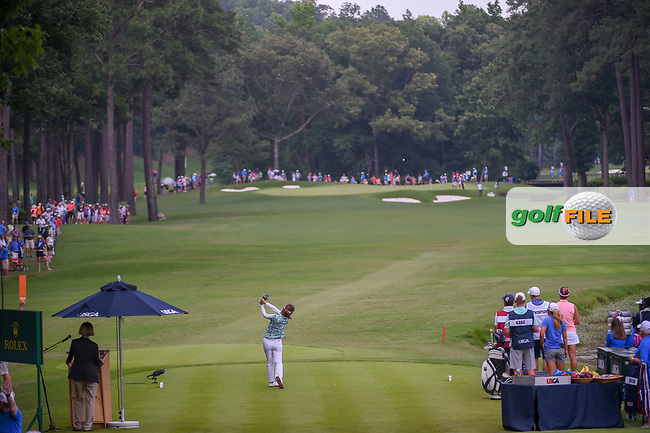 Teresa Lu (TAI) watches her tee shot on 10 during round 3 of the U.S. Women's Open Championship, Shoal Creek Country Club, at Birmingham, Alabama, USA. 6/2/2018.<br /> Picture: Golffile | Ken Murray<br /> <br /> All photo usage must carry mandatory copyright credit (© Golffile | Ken Murray)