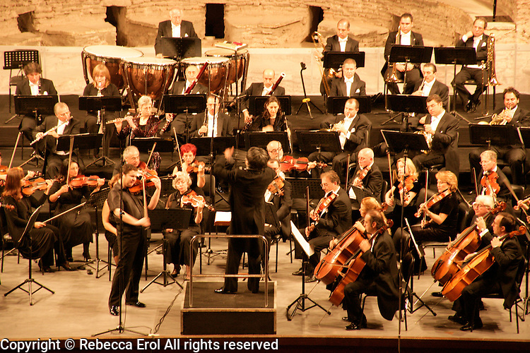 The Istanbul State Symphony Orchestra in concert at the Haghia Irene in Istanbul, Turkey