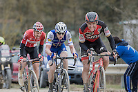 Greg Van Avermaet (BEL/BMC) leads the chase behind race leader Kwiatkowski ahead of Zdenek Stybar (CZE/QuickStep Floors) & Tim Wellens (BEL/Lotto-Soudal)<br /> <br /> 11th Strade Bianche 2017