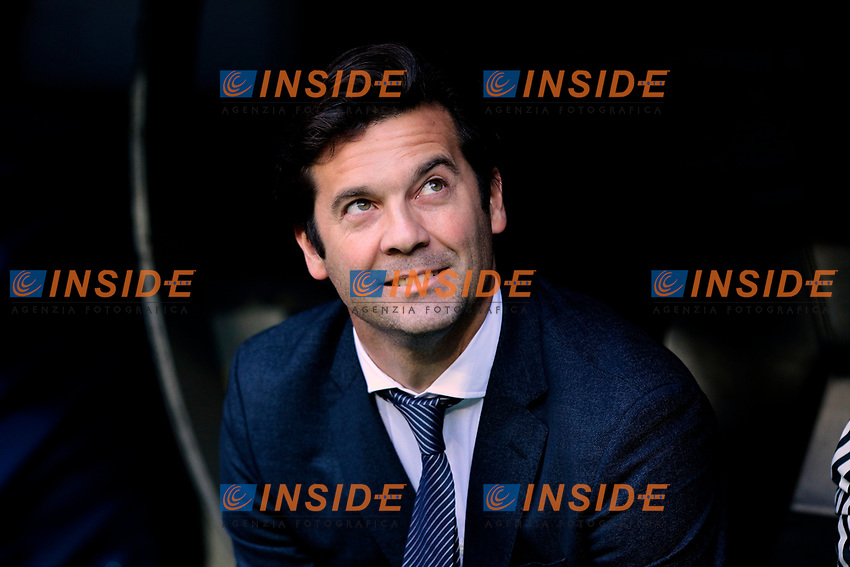 Real Madrid's coach Santiago Solari during La Liga match between Real Madrid and Real Valladolid at Santiago Bernabeu Stadium in Madrid, Spain. November 03, 2018. (ALTERPHOTOS/A. Perez Meca)<br /> Liga Campionato Spagna 2018/2019<br /> Foto Alterphotos / Insidefoto <br /> ITALY ONLY