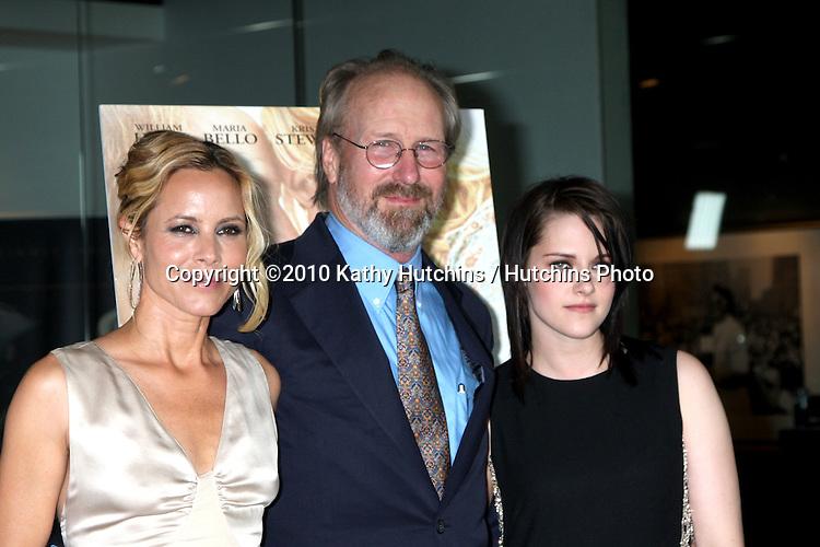 "Maria Bello, William Hurt,  & Kristen Stewart.arriving at ""The Yellow Handkerchief"" LA Premiere.Pacific Design Center Silver Screen Theater.Los Angeles, CA.February 18, 2010.©2010 Kathy Hutchins / Hutchins Photo...."