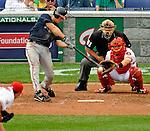 12 April 2008: Atlanta Braves' second baseman Kelly Johnson at bat against the Washington Nationals at Nationals Park, in Washington, DC. The Braves defeated the Nationals 10-2...Mandatory Photo Credit: Ed Wolfstein Photo