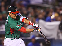 Xorge Carrillo de Mexico en su turno al bat , durante el partido Mexico vs Venezuela, World Baseball Classic en estadio Charros de Jalisco en Guadalajara, Mexico. Marzo 12, 2017. (Photo: AP/Luis Gutierrez)