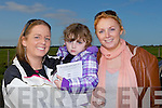 DAY OUT: Eimear and Samanta O'Sullivan with Ann Marie Barrett, Ballybunion, enjoying a day out at the Ballyduff Coursing on Saturday.