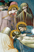 Dettaglio degli affreschi di Giotto all'interno della Cappella degli Scrovegni a Padova.<br /> Detail of a fresco by Giotto in the Scrovegni Chapel, in Padua.<br /> UPDATE IMAGES PRESS/Riccardo De Luca