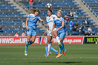 Bridgeview, IL - Saturday April 22, 2017: Sofia Huerta, Sydney Leroux, Julie Ertz during a regular season National Women's Soccer League (NWSL) match between the Chicago Red Stars and FC Kansas City at Toyota Park.