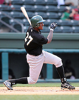 May 27, 2008: Outfielder Richard Pena (27) of the Savannah Sand Gnats, Class A affiliate of the New York Mets, in a game against the Greenville Drive at Fluor Field at the West End in Greenville, S.C. Photo by:  Tom Priddy/Four Seam Images
