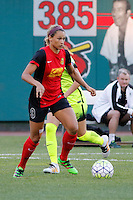 Rochester, NY - Saturday July 09, 2016: Western New York Flash forward Lynn Williams (9) during a regular season National Women's Soccer League (NWSL) match between the Western New York Flash and the Seattle Reign FC at Frontier Field.