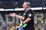 Rhein Neckar Loewe Trainer Nikolaj Jacobsen gibt Anweisungen beim Spiel in der Handball Bundesliga, Rhein Neckar Loewen - VfL Gummersbach.<br /> <br /> Foto &copy; PIX-Sportfotos *** Foto ist honorarpflichtig! *** Auf Anfrage in hoeherer Qualitaet/Aufloesung. Belegexemplar erbeten. Veroeffentlichung ausschliesslich fuer journalistisch-publizistische Zwecke. For editorial use only.
