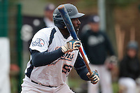 17 October 2010: Boubakar Guaye of Savigny is seen at bat during Rouen 10-5 win over Savigny, during game 2 of the French championship finals, in Savigny sur Orge, France.