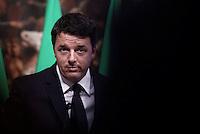 Roma, 15 Ottobre 2016<br /> Matteo Renzi illustra alla stampa il disegno di legge di bilancio dello Stato per l&rsquo;anno finanziario 2017 e per il triennio 2017-2019.