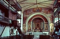 Europe/France/Aquitaine/64/Pyrénées-Atlantiques/Sare: Eglise St Martin , la galerie intérieure