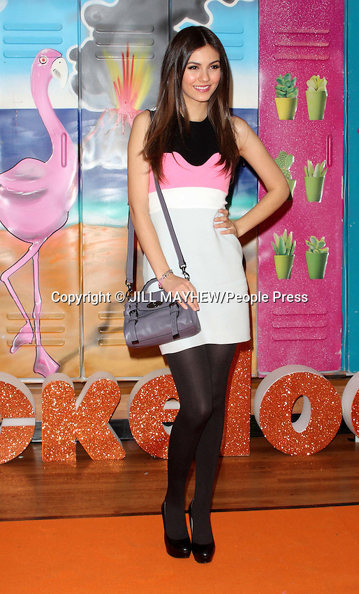 Thurrock - Victoria Justice 'Victorious' range of clothing launch at Asda, Thurrock, Essex - February 20th 2012..Photo by Jill Mayhew