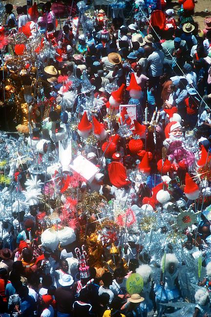 crowd, Mardi Gras, Port-au-Spain, Trinidad, Caribbean..