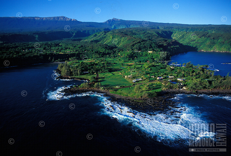 Keane Peninsula, an isolated traditional taro community, along the Hana coast