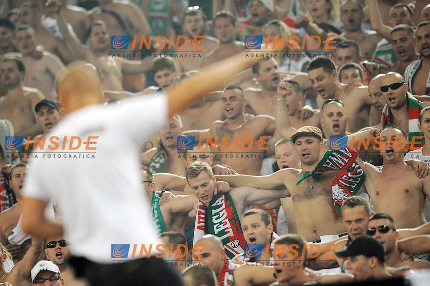 Tifosi del Legia Varsavia<br /> Roma 19-09-2013 Stadio Olimpico<br /> Football Calcio 2013/2014 Europa League<br /> Lazio - Legia Varsavia / Lazio - Legia Warszawa 1-0<br /> Foto Antonietta Baldassarre Insidefoto