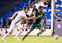13th July 2020, Orlando, Florida, USA;  Portland Timbers forward Jeremy Ebobisse (17) runs with the ball during the MLS Is Back Tournament between the LA Galaxy versus Portland Timbers on July 13, 2020 at the ESPN Wide World of Sports, Orlando FL.