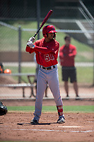 Los Angeles Angels outfielder Cam Williams (54) at bat during an Extended Spring Training game against the Giants Black at the San Francisco Giants Training Complex on May 25, 2018 in Scottsdale, Arizona. (Zachary Lucy/Four Seam Images)