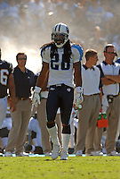 Sept. 17, 2006; San Diego, CA, USA; Tennessee Titans safety (28) Lamont Thompson against the San Diego Chargers at Qualcomm Stadium in San Diego, CA. Mandatory Credit: Mark J. Rebilas