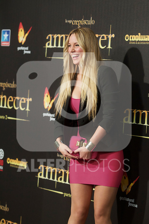 Manchester United's goalie David De Gea girlfriend Edurne Garcia during the premiere of The Twilight Saga: Breaking Dawn. November 15, 2012. (ALTERPHOTOS/Alvaro Hernández)