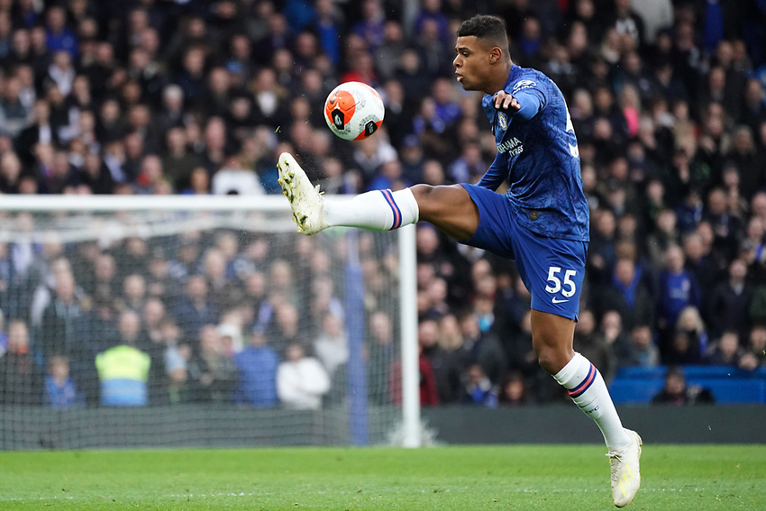 Chelsea's Faustino Anjorin keeps the ball in play<br /> <br /> Photographer Stephanie Meek/CameraSport<br /> <br /> The Premier League - Chelsea v Everton - Sunday 8th March 2020 - Stamford Bridge - London<br /> <br /> World Copyright © 2020 CameraSport. All rights reserved. 43 Linden Ave. Countesthorpe. Leicester. England. LE8 5PG - Tel: +44 (0) 116 277 4147 - admin@camerasport.com - www.camerasport.com
