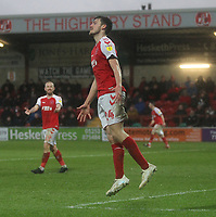Fleetwood Town's Ashley Nadesan  regrests a missed chance<br /> <br /> Photographer Mick Walker/CameraSport<br /> <br /> The EFL Sky Bet League One - Fleetwood Town v Scunthorpe United - Saturday 26th January 2019 - Highbury Stadium - Fleetwood<br /> <br /> World Copyright © 2019 CameraSport. All rights reserved. 43 Linden Ave. Countesthorpe. Leicester. England. LE8 5PG - Tel: +44 (0) 116 277 4147 - admin@camerasport.com - www.camerasport.com