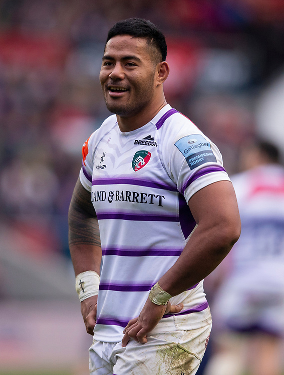 Leicester Tigers' Manu Tuilagi<br /> <br /> Photographer Bob Bradford/CameraSport<br /> <br /> Gallagher Premiership - Bristol Bears v Leicester Tigers - Saturday 1st December 2018 - Ashton Gate - Bristol<br /> <br /> World Copyright © 2018 CameraSport. All rights reserved. 43 Linden Ave. Countesthorpe. Leicester. England. LE8 5PG - Tel: +44 (0) 116 277 4147 - admin@camerasport.com - www.camerasport.com