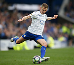 Marc Albrighton of Leicester City during the English Premier League match at Goodison Park Stadium, Liverpool. Picture date: April 9th 2017. Pic credit should read: Simon Bellis/Sportimage